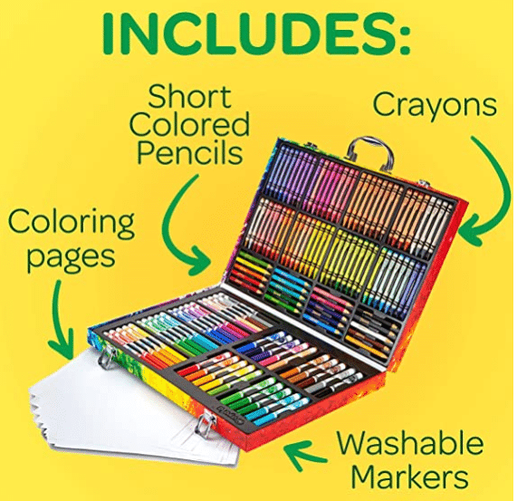 Crayola Inspiration Art Case Coloring Set , Gift for Kids, 140 Art Supplies 閃購特價-僅限今日