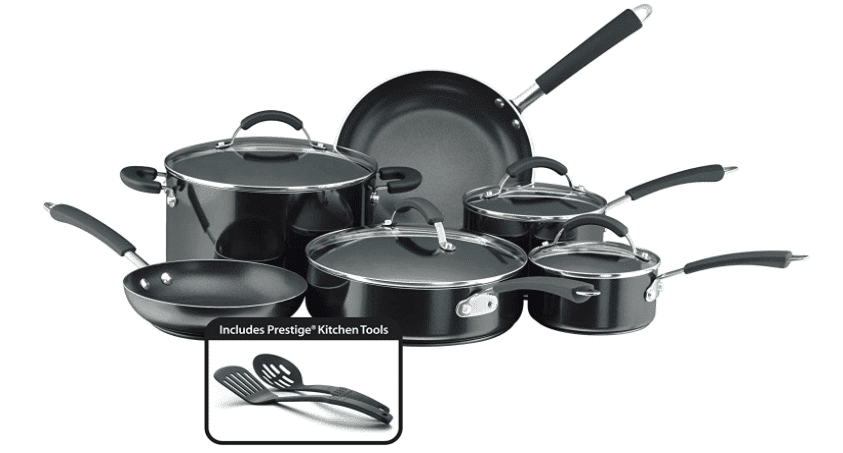 Farberware Millennium Nonstick Cookware Pots and Pans Set, 12 Piece, Black 黑色不沾鍋組特價中~台灣時間11/23/2020